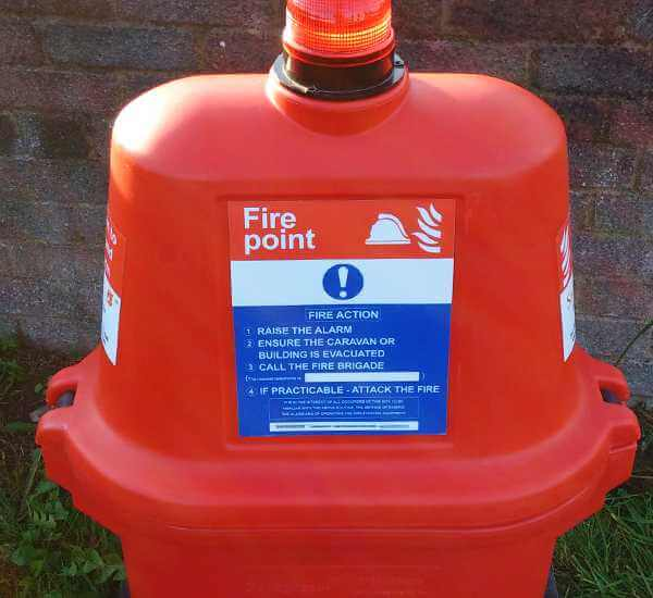 Fire extinguisher hire box